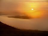Morning Fog Shrouds the Hills Near Callanish Photographic Print by Jim Richardson