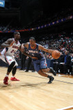 Charlotte Bobcats v Atlanta Hawks: Dominic McGuire and Marvin Williams Photographic Print by Scott Cunningham