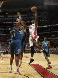 Washington Wizards v Toronto Raptors: Ed Davis, Kevin Seraphin and Trevor Booker Photographic Print by Ron Turenne