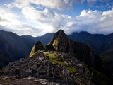 Machu Picchu, an Archaeological Site in Peru, from Above Fotografisk tryk af Michael Hanson
