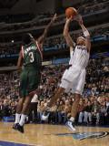 Milwaukee Bucks v Dallas Mavericks: Jason Kidd and Brandon Jennings Photographic Print by Danny Bollinger