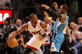 New Orleans Hornets v Miami Heat: Dwyane Wade and Chris Paul Photographic Print by  Mike