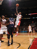 Atlanta Hawks v Toronto Raptors: Sonny Weems and Marvin Williams Photographic Print by Ron Turenne