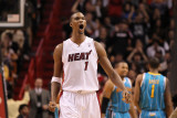 New Orleans Hornets v Miami Heat: Chris Bosh Photographic Print by  Mike