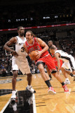 Chicago Bulls v San Antonio Spurs: Joakim Noah and Antonio McDyess Lmina fotogrfica por D. Clarke Evans