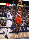 Portland Trail Blazers v Dallas Mavericks: Andre Miller and Jason Terry Photographic Print by Ronald Martinez