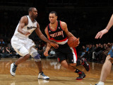 Portland Trail Blazers v Washington Wizards: Brandon Roy and Gilbert Arenas Photographic Print by Ned Dishman