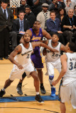 Los Angeles Lakers v Washington Wizards: Andrew Bynum, Hilton Armstrong and Cartier Martin Photographic Print by Andrew Bernstein