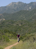 A Biker on a Trail in Los Padres National Forest Photographic Print by Rich Reid