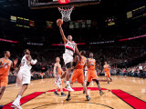 Phoenix Suns v Portland Trail Blazers: Grant Hill and Wesley Matthews Photographic Print by Sam Forencich