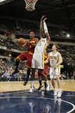 Cleveland Cavaliers  v Indiana Pacers: Daniel Gibson and Roy Hibbert Photographic Print by Ron Hoskins