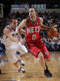New Jersey Nets v Dallas Mavericks: Jordan Farmar and Jose Juan Barea Photographic Print by Glenn James