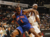 New York Knicks v Charlotte Bobcats: Stephen Jackson and Amar'e Stoudemire Photographic Print by Kent Smith