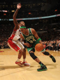 Boston Celtics v Toronto Raptors: Paul Pierce and Sonny Weems Photographic Print by Ron Turenne
