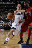 New Jersey Nets v Dallas Mavericks: Jose Juan Barea and Terrance Williams Photographic Print by Danny Bollinger