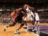 Miami Heat v Sacramento Kings: Chris Bosh Photographic Print by Ezra Shaw