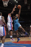New Orleans Hornets v Detroit Pistons: David West and Charlie Villanueva Photographic Print by Allen Einstein