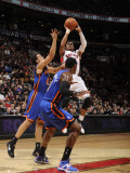 New York Knicks v Toronto Raptors: Leandro Barbosa and Landry Fields Photographic Print by Ron Turenne