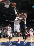Indiana Pacers v Atlanta Hawks: Damien Wilkins and Roy Hibbert Photographic Print by Scott Cunningham
