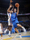 Dallas Mavericks v Oklahoma City Thunder: Dirk Nowitzki and Jeff Green Photographic Print by Layne Murdoch