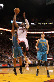 New Orleans Hornets v Miami Heat: Dwyane Wade and Willie Green Photographic Print by Mike Ehrmann