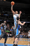 Orlando Magic v Denver Nuggets: J.R. Smith and J.J. Redick Photographic Print by Garrett Ellwood