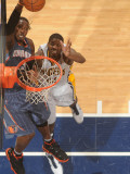Charlotte Bobcats v Indiana Pacers: Gerald Wallace and Solomon Jones Photographic Print by Ron Hoskins