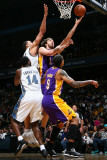 Los Angeles Lakers v Washington Wizards: Pau Gasol and JaVale McGee Photographic Print by Ned
