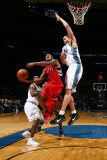 Toronto Raptors v Washington Wizards: Jarrett Jack, JaVale McGee and Gilbert Arenas Photographic Print by Ned Dishman