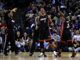Miami Heat v Golden State Warriors: Chris Bosh Photographic Print by Ezra Shaw