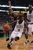 Atlanta Hawks v Boston Celtics: Nate Robinson, Jason Collins and Kevin Garnett Photographic Print by  Elsa