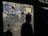 A Man's Silhouette Against a Wall Photographic Print by Jodi Cobb