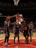 Indiana Pacers v Chicago Bulls: Derrick Rose Photographic Print by Ray Amati