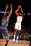 Charlotte Bobcats v New York Knicks: Amar'e Stoudemire and Tyrus Thomas Photographic Print by Nathaniel S. Butler