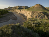 Little Missouri River Flows in Little Missouri National Grasslands Photographic Print by Phil Schermeister