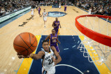 Los Angeles Lakers v Memphis Grizzlies: Rudy Gay and Ron Artest Photographic Print by Joe Murphy