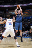 Minnesota Timberwolves v Oklahoma City Thunder: Kevin Love and Nenad Krstic Photographic Print by Layne Murdoch