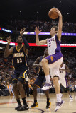 Indiana Pacers v Phoenix Suns: Goran Dragic and Roy Hibbert Photographic Print by Christian Petersen