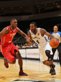 Rio Grande Valley Vipers v Austin Toros: Lewis Cinch and Terrell Harris Photographic Print by Chris Covatta