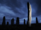 The Callanish Standing Stones, Cut from Rocks Three Billion Years Old Fotografisk tryk af Jim Richardson