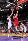 Houston Rockets v Sacramento Kings: Chase Budinger and Omri Casspi Photographic Print by Rocky Widner