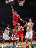 Philadelphia 76ers v Washington Wizards: Andre Iguodala and JaVale McGee Photographic Print by Ned Dishman