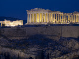 The Parthenon and Erechtheion (Left) at Night Photographic Print by Richard Nowitz