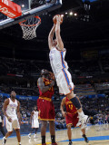 Cleveland Cavaliers  v Oklahoma City Thunder: Byron Mullens and J.J. Hickson Photographic Print by Layne Murdoch