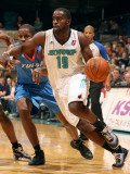 Tulsa 66ers v Sioux Falls Skyforce: Leemire Goldwire and Jerome Dyson Photographic Print by Dave Eggen
