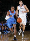 Tulsa 66ers v Texas Legends: Jerome Dyson and Matt Rogers Photographic Print by Layne Murdoch