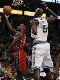 New Jersey Nets v Boston Celtics: Anthony Morrow and Kevin Garnett Photographic Print by  Elsa