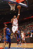 New York Knicks v Detroit Pistons: Tracy McGrady and Bill Walker Photographic Print by Allen Einstein
