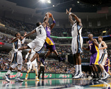 Los Angeles Lakers v Memphis Grizzlies: Kobe Bryant and Tony Allen Photographic Print by Joe Murphy
