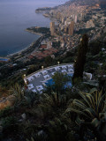A Swimming Pool Above Monaco and its Harbor Photographic Print by Jodi Cobb